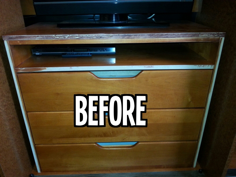 Before Wood Dresser Refinish